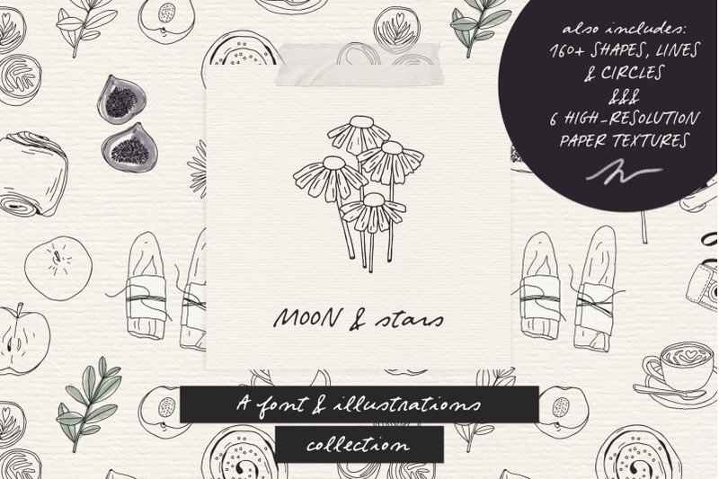 moon-and-stars-font-and-illustrations