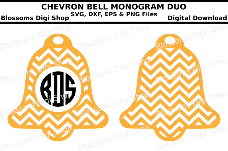 chevron-bell-monogram-duo-svg-eps-dxf-and-png-cut-files