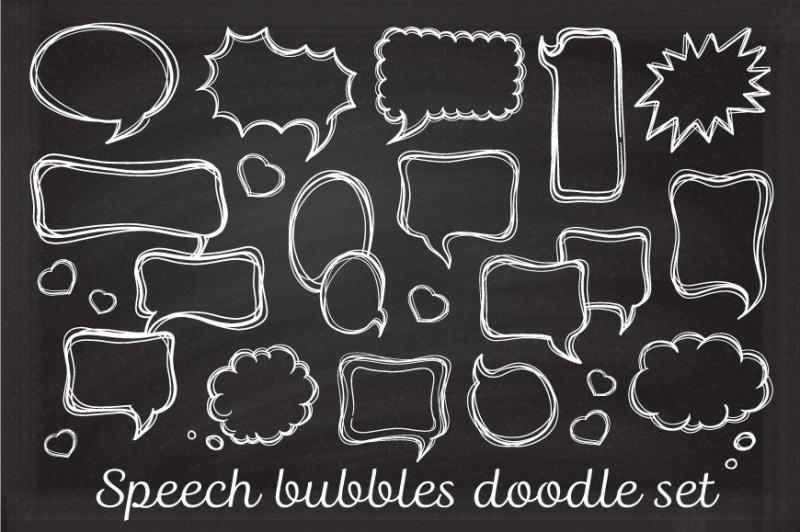 speech-bubbles-doodle-set-seamless-patterns