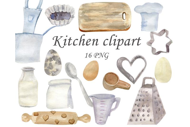 kitchen-utensils-baking-clipart-watercolor-food-clip-art