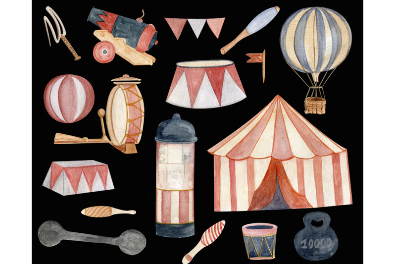 vintage-circus-tent-watercolor-clipart