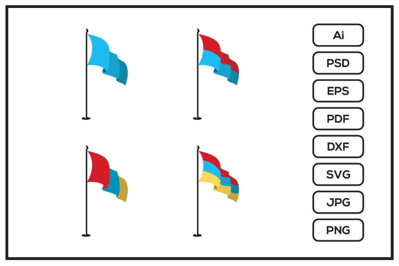realistic-flags-design-illustration