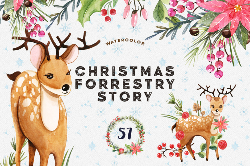 watercolor-christmas-forrestry-story