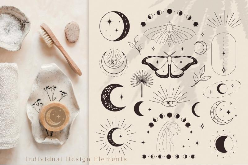 premade-logo-design-elements-black-white-abstract-branding-mockup