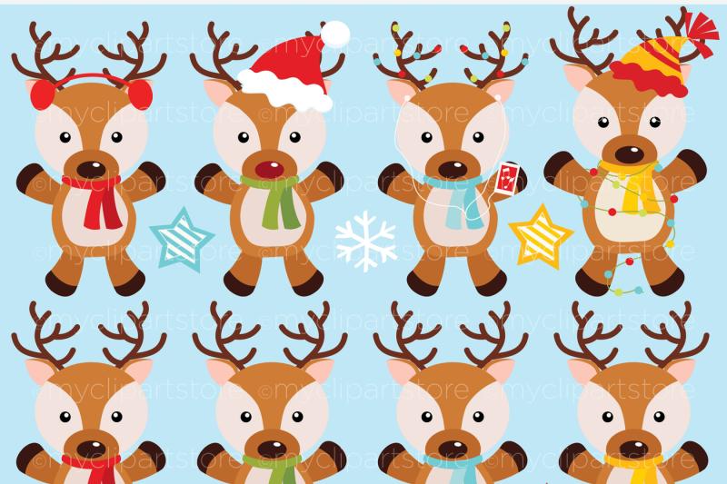 santa-s-reindeer-christmas-vector-clipart
