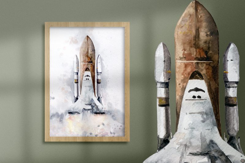 watercolor-shuttle-print-and-clip-art