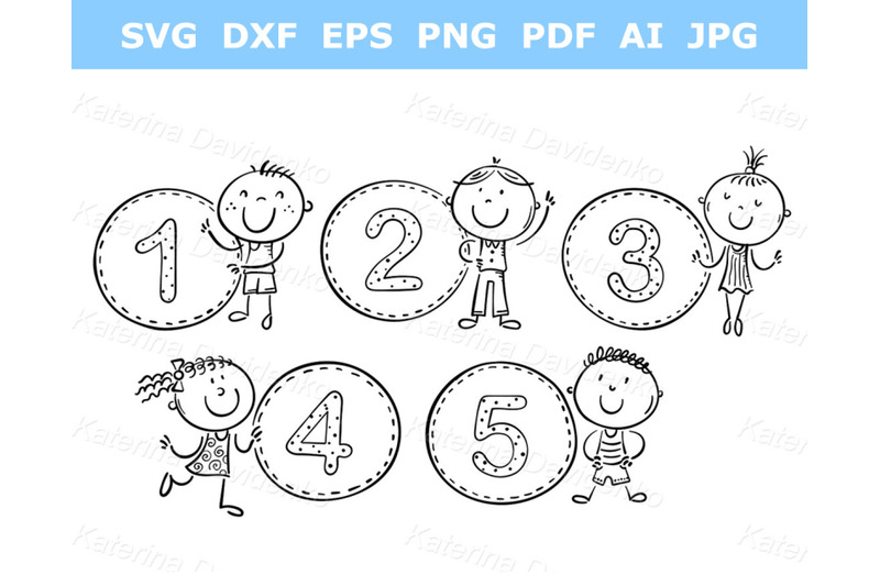 stick-figure-counting-numbers-with-kids-outline-clipart