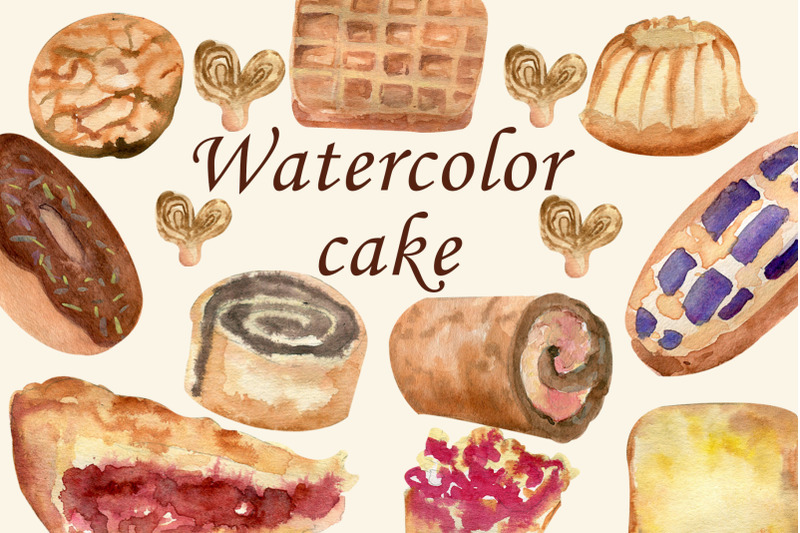 watercolor-bakery-pie-food-clipart-cupcake-png