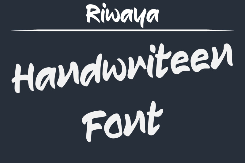riwaya-a-handwritten-font