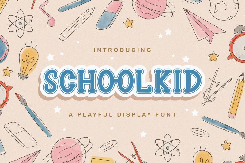 schoolkid-playful-display-font