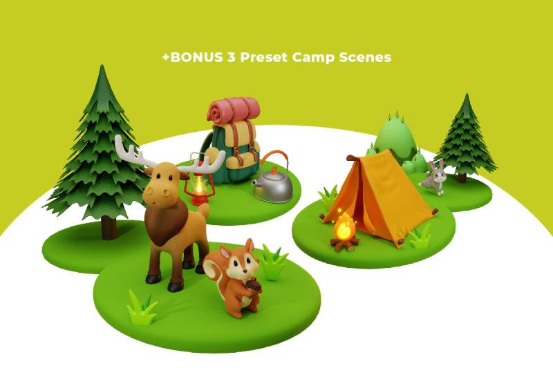 camping-buddies-3d-illustration-amp-elements