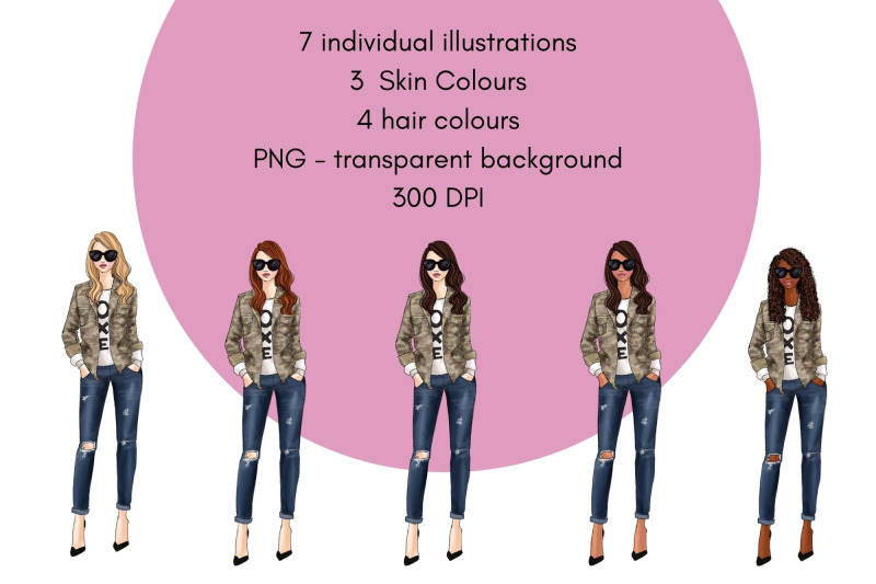 fashion-girls-43-fashion-clipart-set