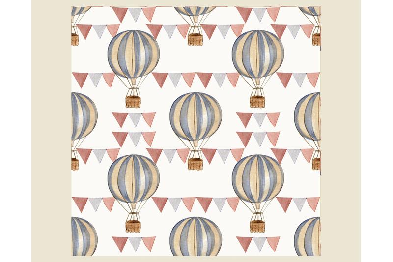 decorative-paper-vintage-circus-tent-watercolor-digital-pattern-clipa