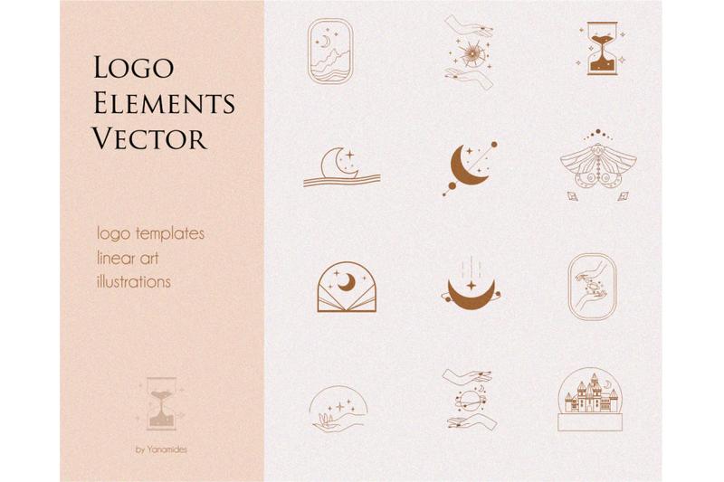 logo-elements-logo-templates-mystical-set-moon-stars-sun-branding