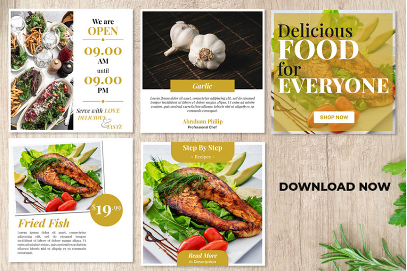 social-media-food-post-template-psd