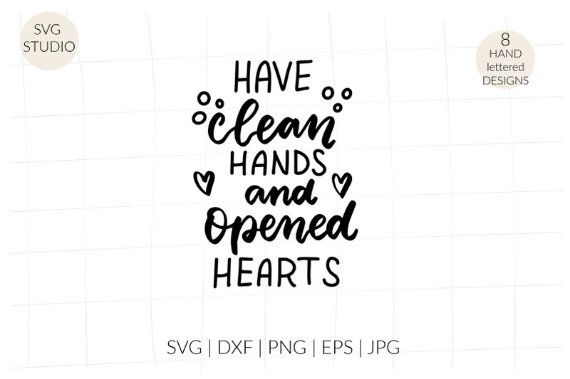 have-clean-hands-and-opened-hearts-svg