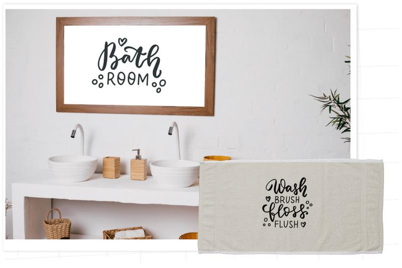 bathroom-svg-funny-bathroom-quotes-bundle-hand-lettering