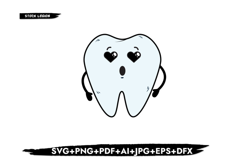 heart-eyes-tooth-svg