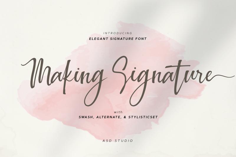 making-signature