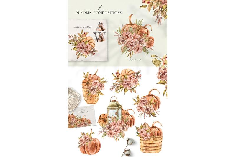 sale-watercolor-pumpkin-season-set