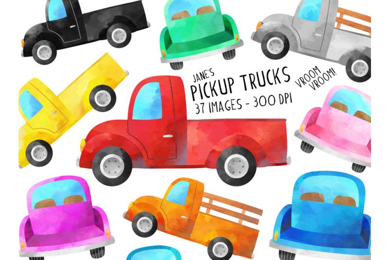 watercolor-trucks-clipart