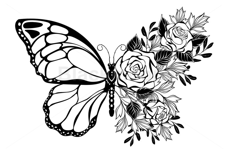 flower-butterfly-with-rose
