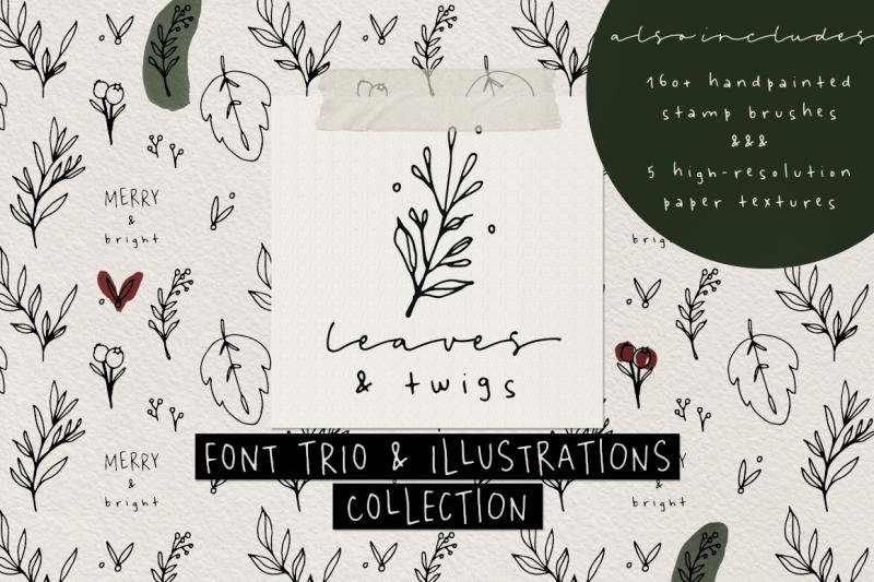 font-and-illustration-collection-bundle