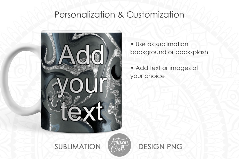 sublimation-mug-design-with-fluid-art-and-silver-glitter