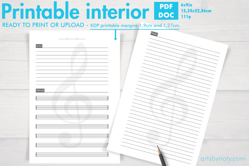 printable-music-songwriter-kdp-notebook