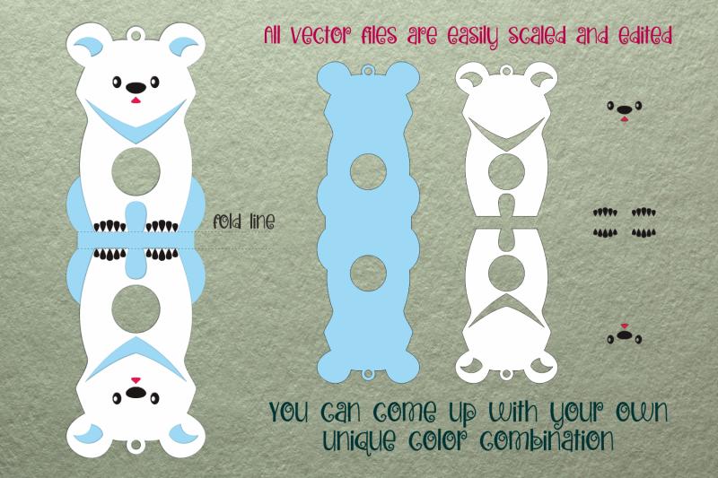 polar-bear-christmas-ornament-candy-holder-template-svg