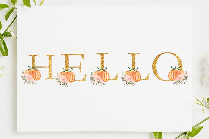 alphabet-pumpkin-wedding-halloween-fall-flower