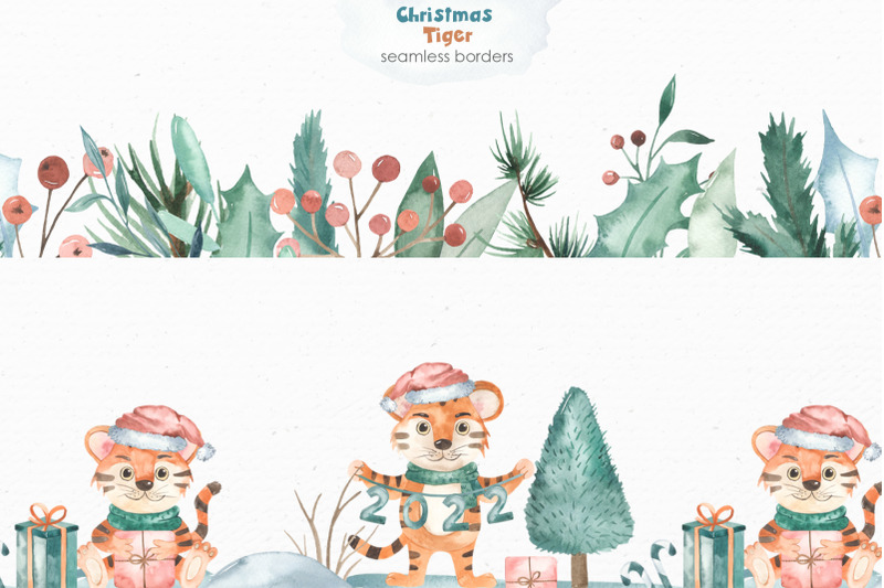 christmas-tigers-watercolor
