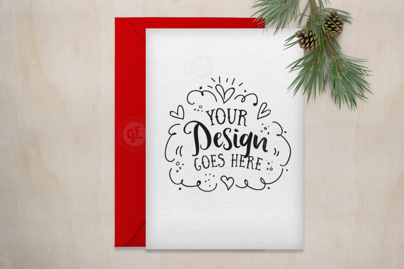 Free Christmas Greeting Card Mockup with PSD (PSD Mockups)