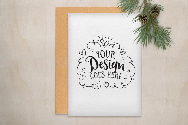 Free Christmas Card Mockup Scene with PSD (PSD Mockups)
