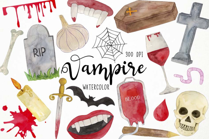 watercolor-vampire-clipart-gothic-clipart-halloween-clipart-blood