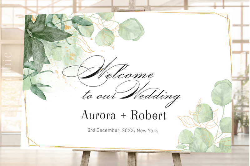 wedding-welcome-sign-signage-template-greenery-welcome-sign
