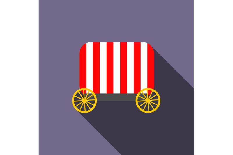 circus-wagon-icon-flat-style