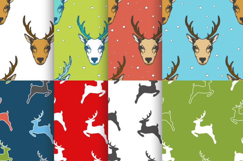 christmas-seamless-pattern-set