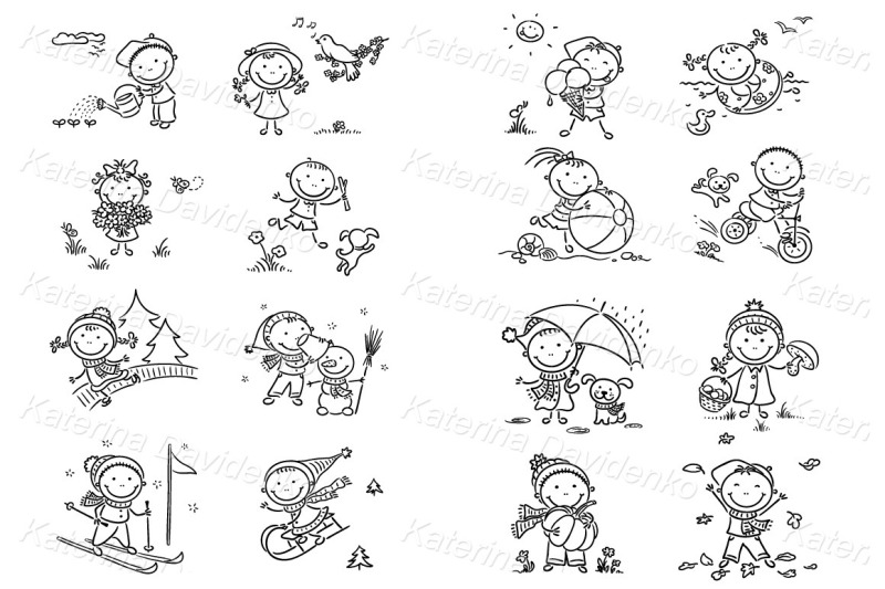 seasons-and-weather-clipart-set