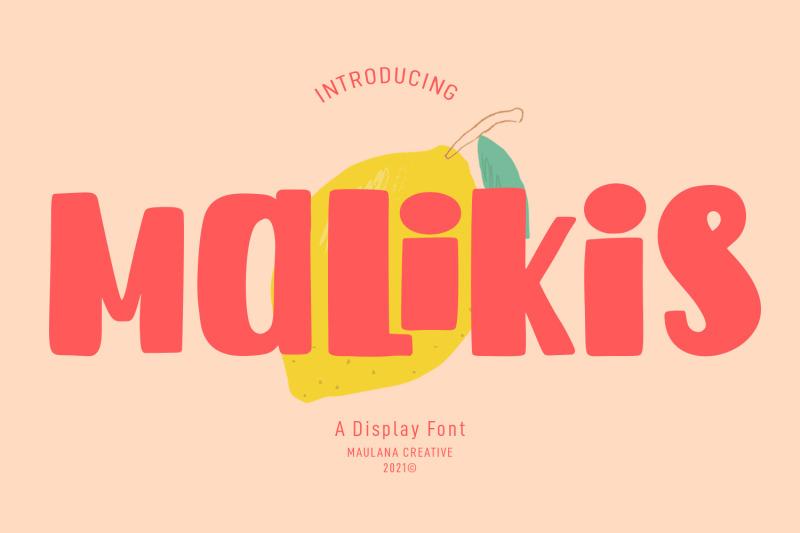 malikis-display-font