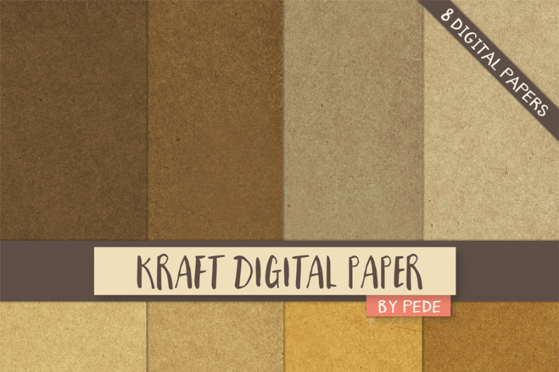 kraft-digital-paper-pack