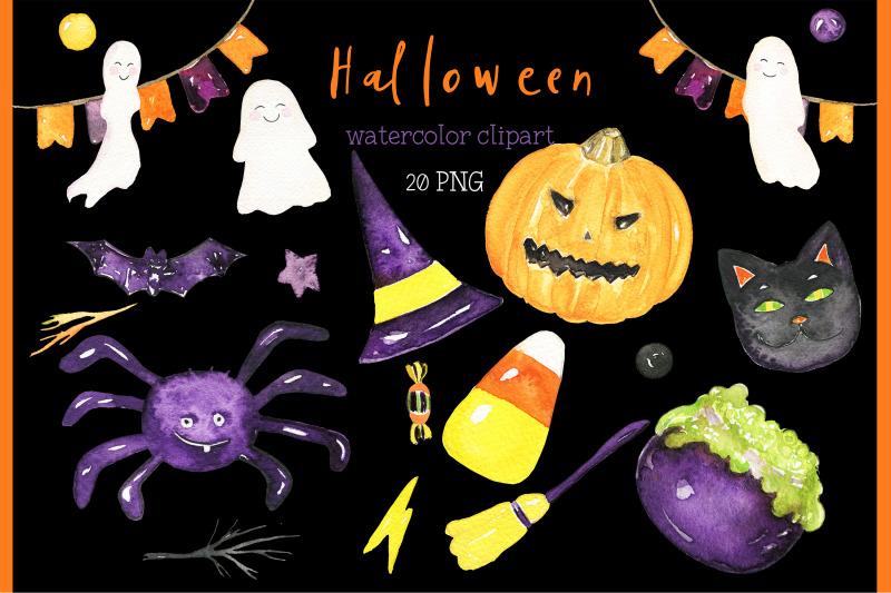 watercolor-halloween-clipart
