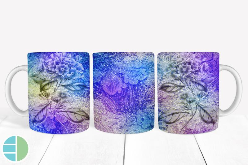 purple-mug-sublimation-flower-mug