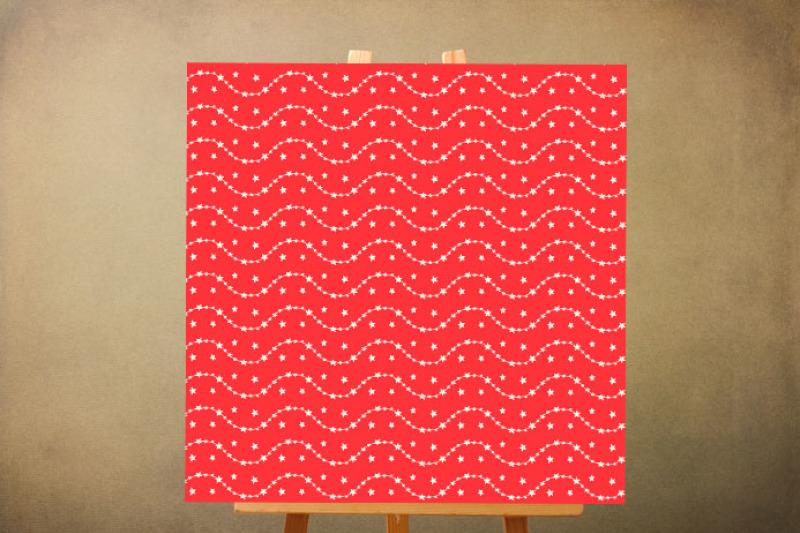 red-christmas-digital-paper-pack