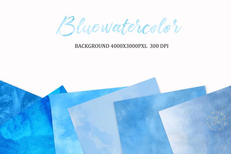 blue-watercolor-digital-paper