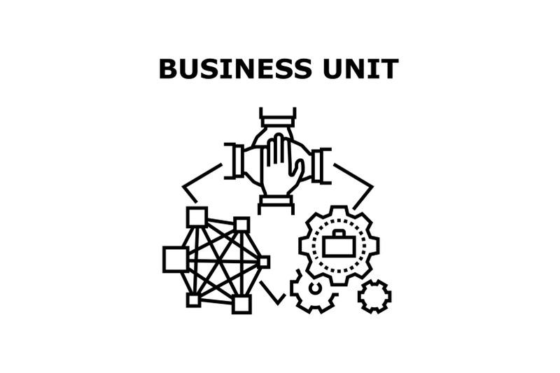 business-unit-vector-concept-black-illustration
