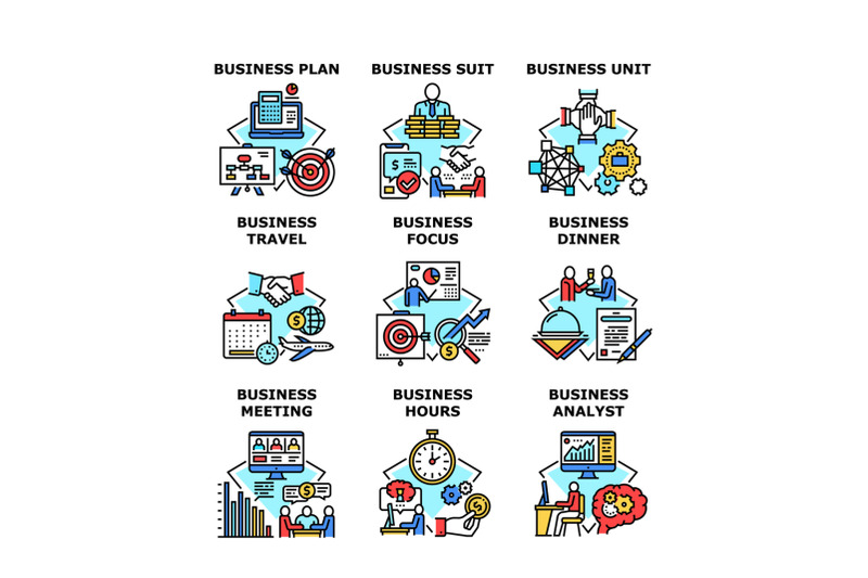 business-planning-set-icons-vector-illustrations