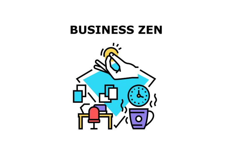 business-zen-vector-concept-color-illustration