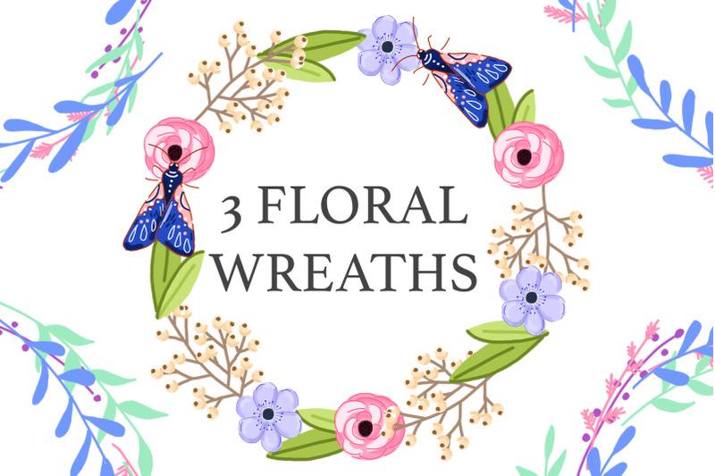 set-of-3-high-quality-digital-floral-frames