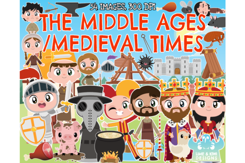 the-middle-ages-medieval-clipart-lime-and-kiwi-designs